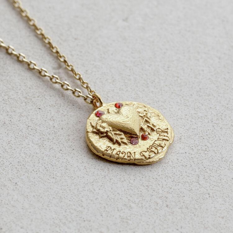 """Collier avec médaillon """"Mon coeur"""" : Bijoux couleur OR"""