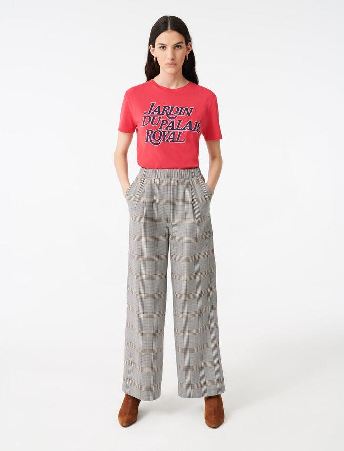 Pantalon élastiqué à carreaux - Pantalons & Jeans - MAJE