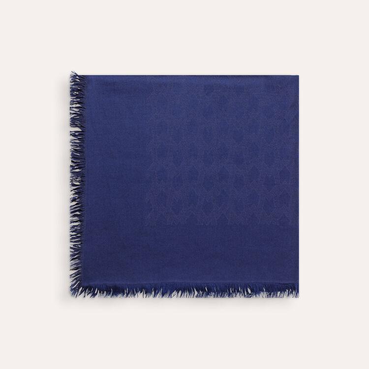 Châle en coton mélangé : Echarpes & Foulards couleur Black