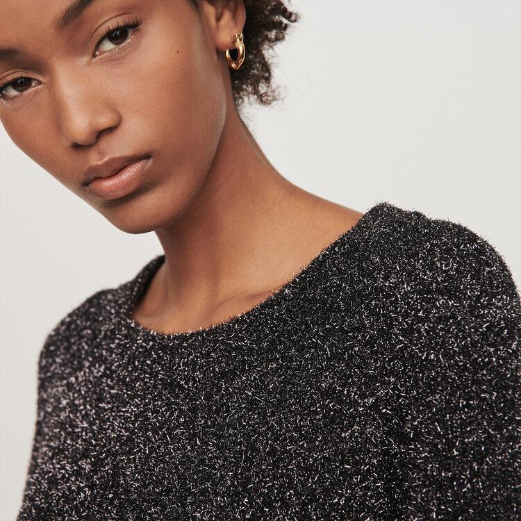 Robe en maille Lurex : Robes couleur Argent