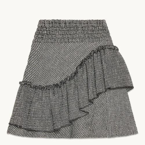 Jupe jacquard avec volants - Jupes & Shorts - MAJE