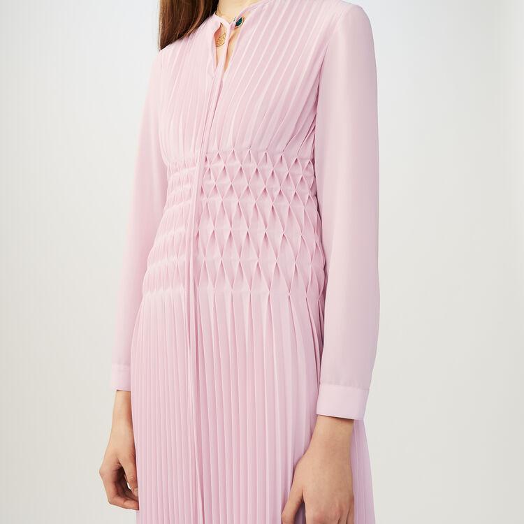 Robe longue plissée : Robes couleur LILA