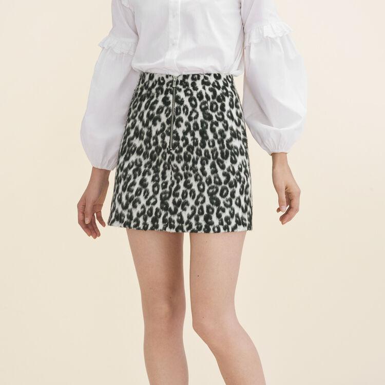 Jupe trapèze à motif léopard : Jupes & Shorts couleur Imprime