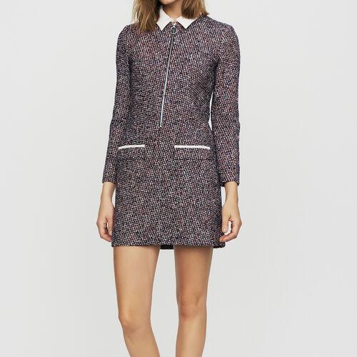 Robe-chemise en tweed : Robes couleur Jacquard