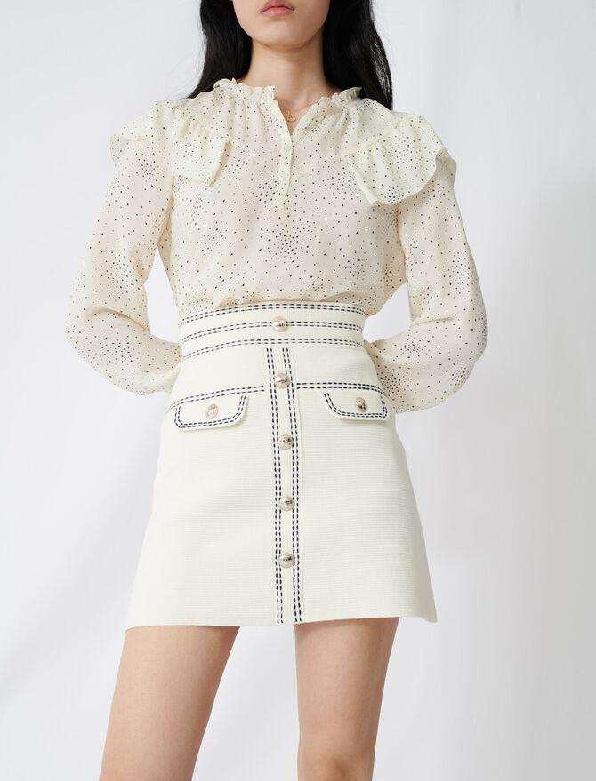 Jupe avec surpiqûres contrastées - Jupes & Shorts - MAJE