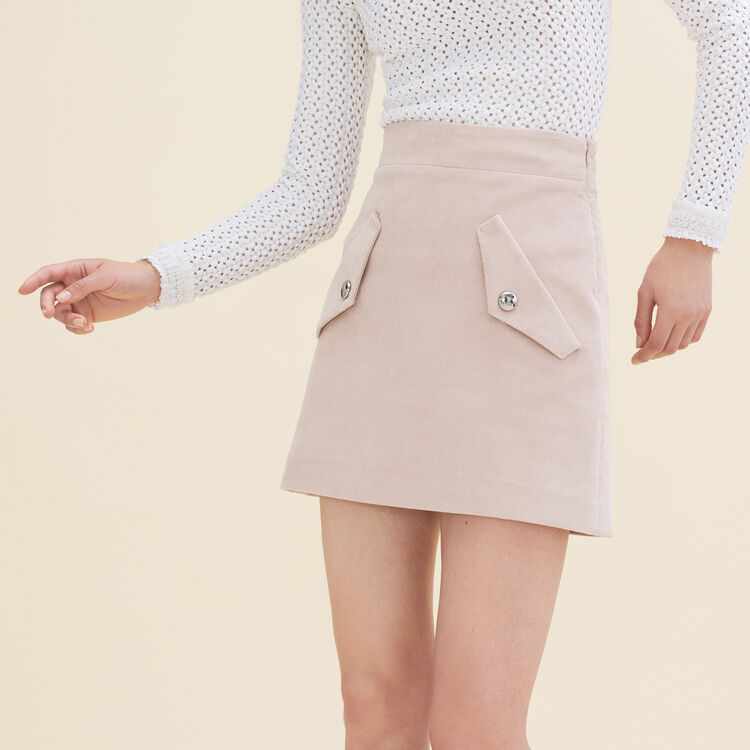 Jupe courte en velours : Jupes & Shorts couleur Rose