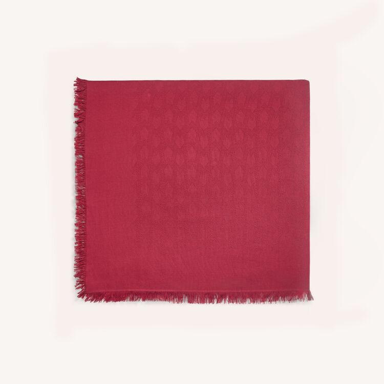 Châle en coton mélangé : Châles & Ponchos couleur Framboise
