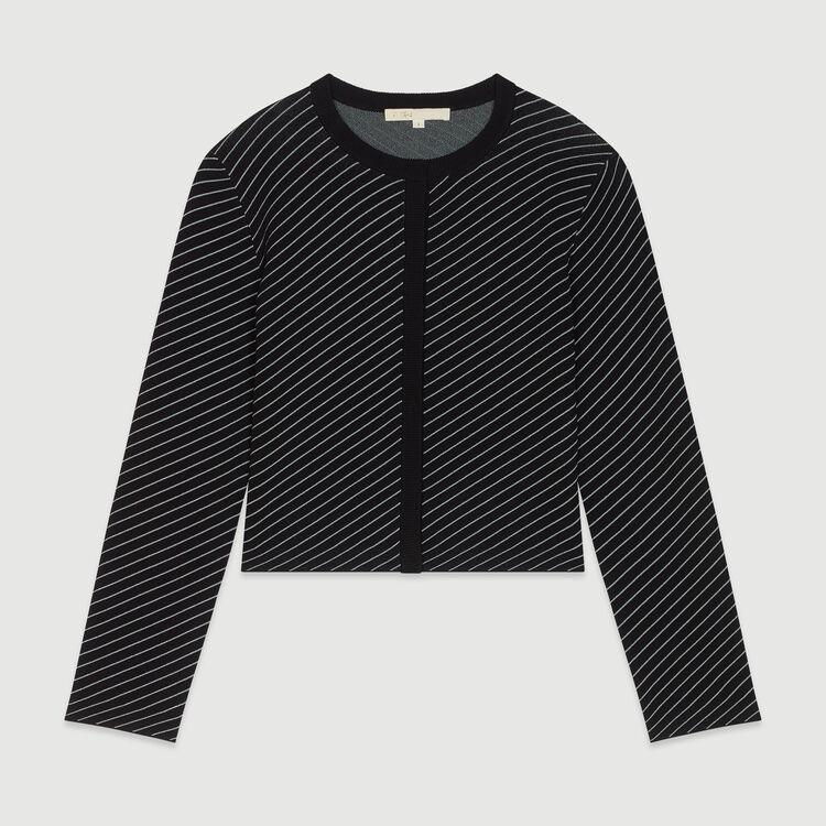 Cardigan court à rayures : Pulls & Cardigans couleur Rayure