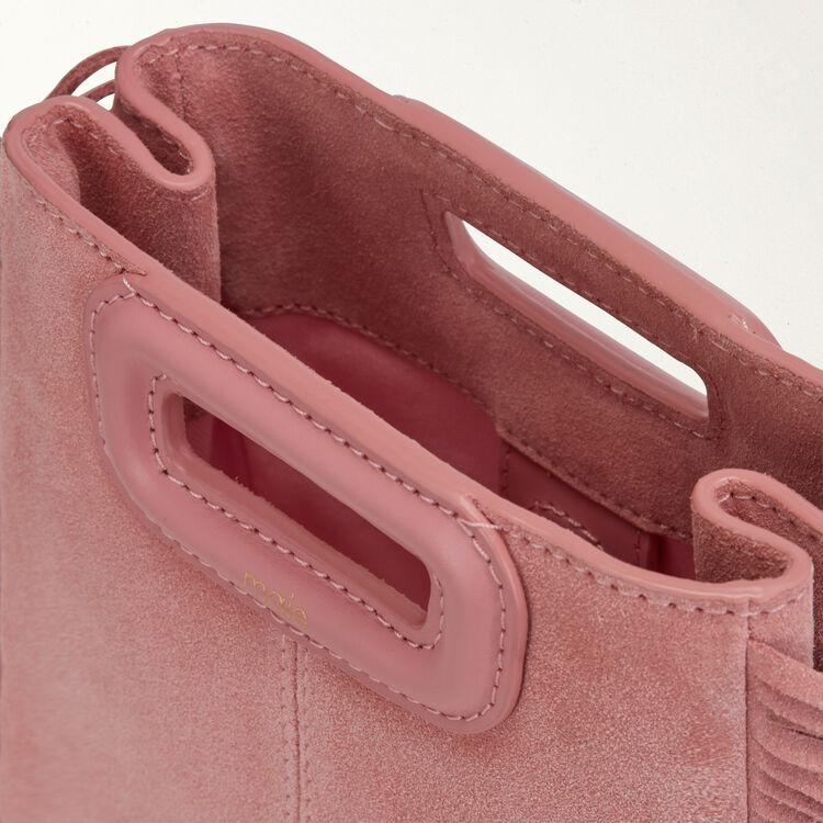 Sac M Mini en suède avec chaine : M Mini couleur ROSE