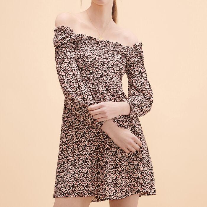 Robe courte avec imprimé floral -  - MAJE