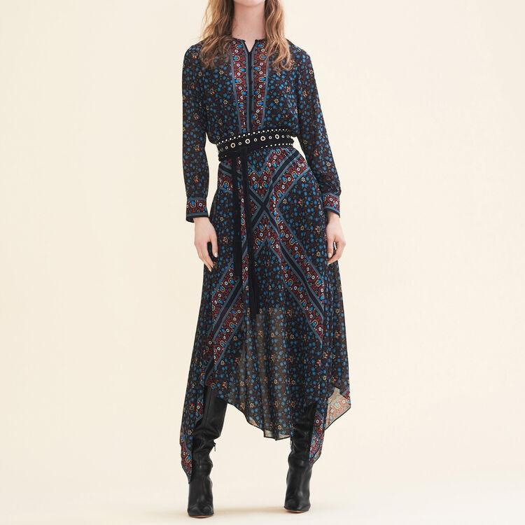 Robe longue imprimée - Robes - MAJE