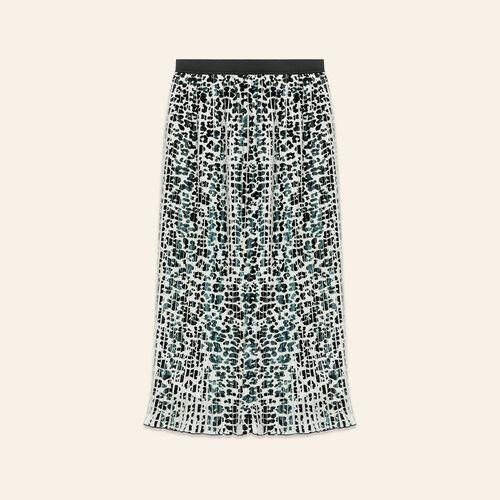 Jupe plissée à imprimé léopard - Jupes & Shorts - MAJE