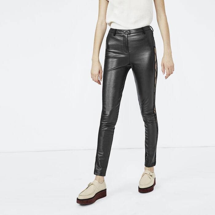 pirou legging en faux cuir pantalons jeans maje paris. Black Bedroom Furniture Sets. Home Design Ideas