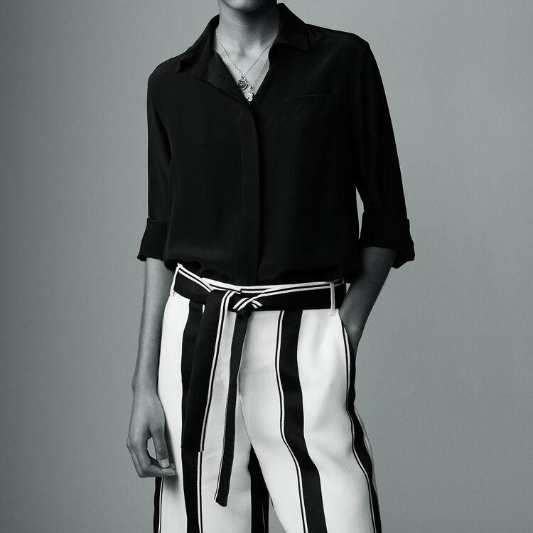 Chemise en soie : Chemises couleur Black