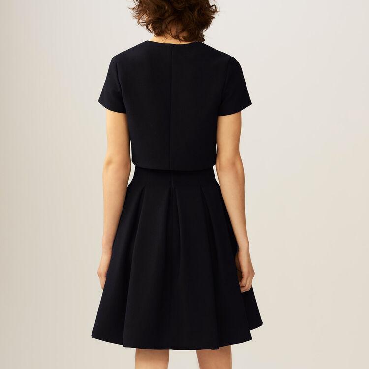 Robe corolle effet trompe-l'œil : Robes couleur Black