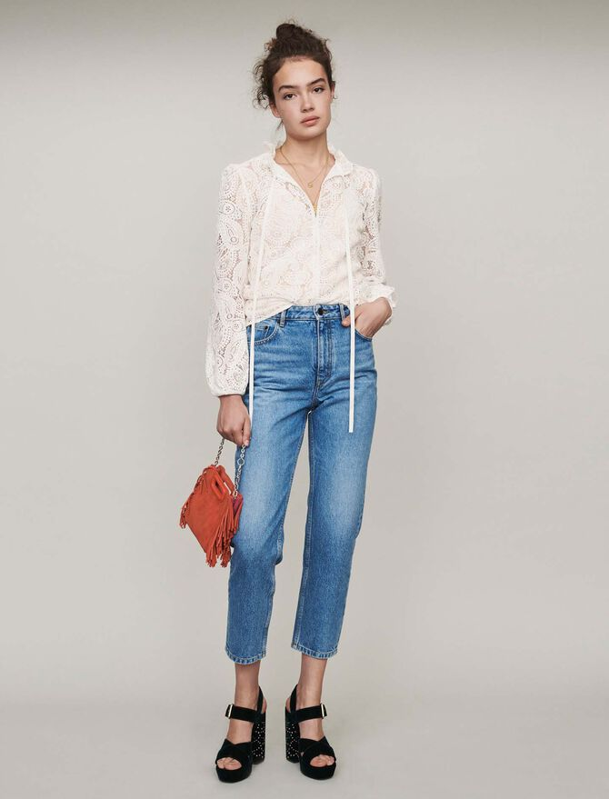 Jean taille haute - Pantalons & Jeans - MAJE