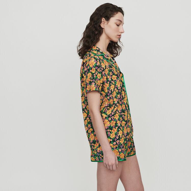 Chemise imprimée façon pyjama : Tops & Chemises couleur Imprime