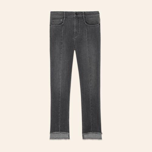Jean avec longueurs asymétriques - Jeans - MAJE