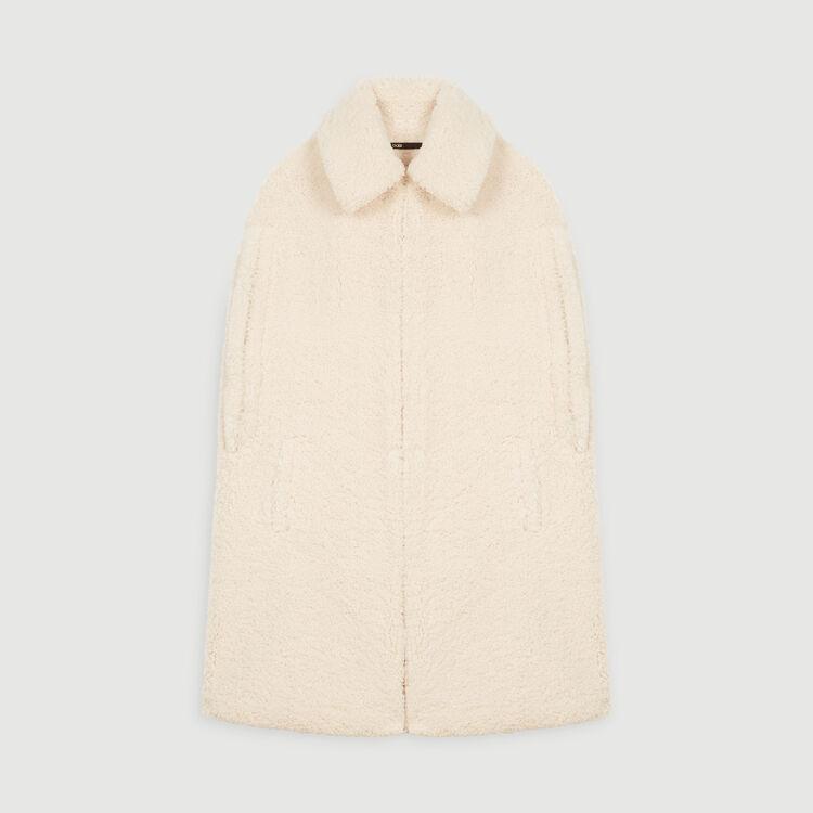 Manteau en fausse fourrure façon cape : Manteaux & Blousons couleur ECRU