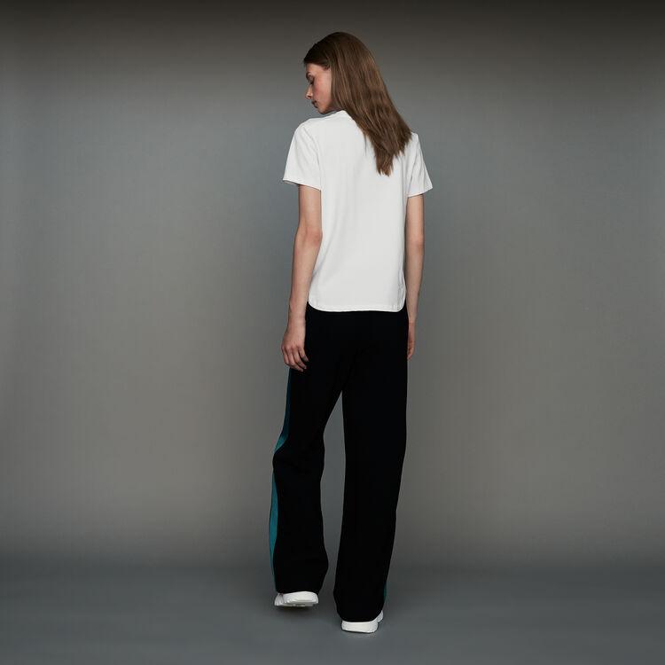 Pantalon large bicolore : Pantalons couleur Black