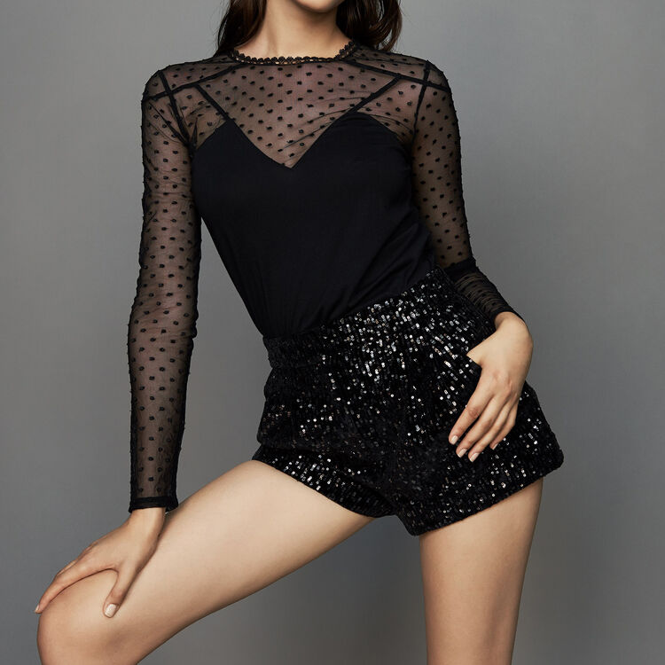 Short à sequins : Jupes & Shorts couleur Black