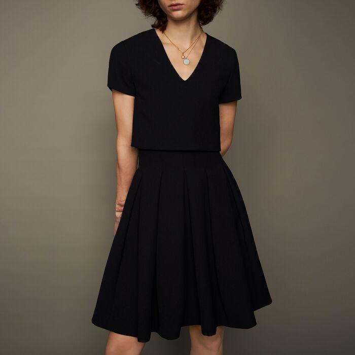 rozane robe corolle effet trompe l il robes maje paris. Black Bedroom Furniture Sets. Home Design Ideas