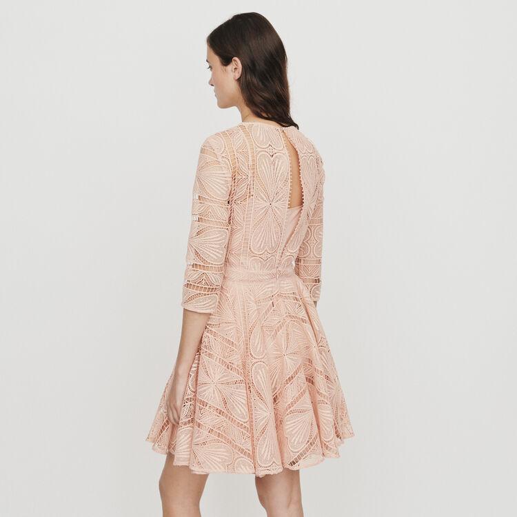 Robe patineuse en guipure : Robes couleur Terracotta