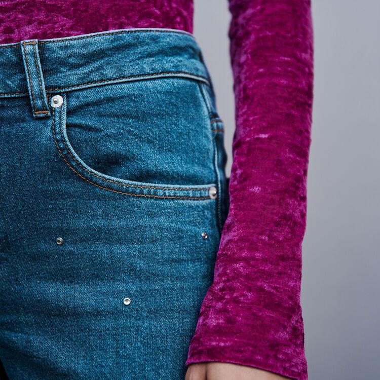 Jean entièrement strassé : Pantalons & Jeans couleur Bleu
