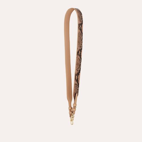 Bandoulière en cuir de serpent : Bandoulières couleur Beige