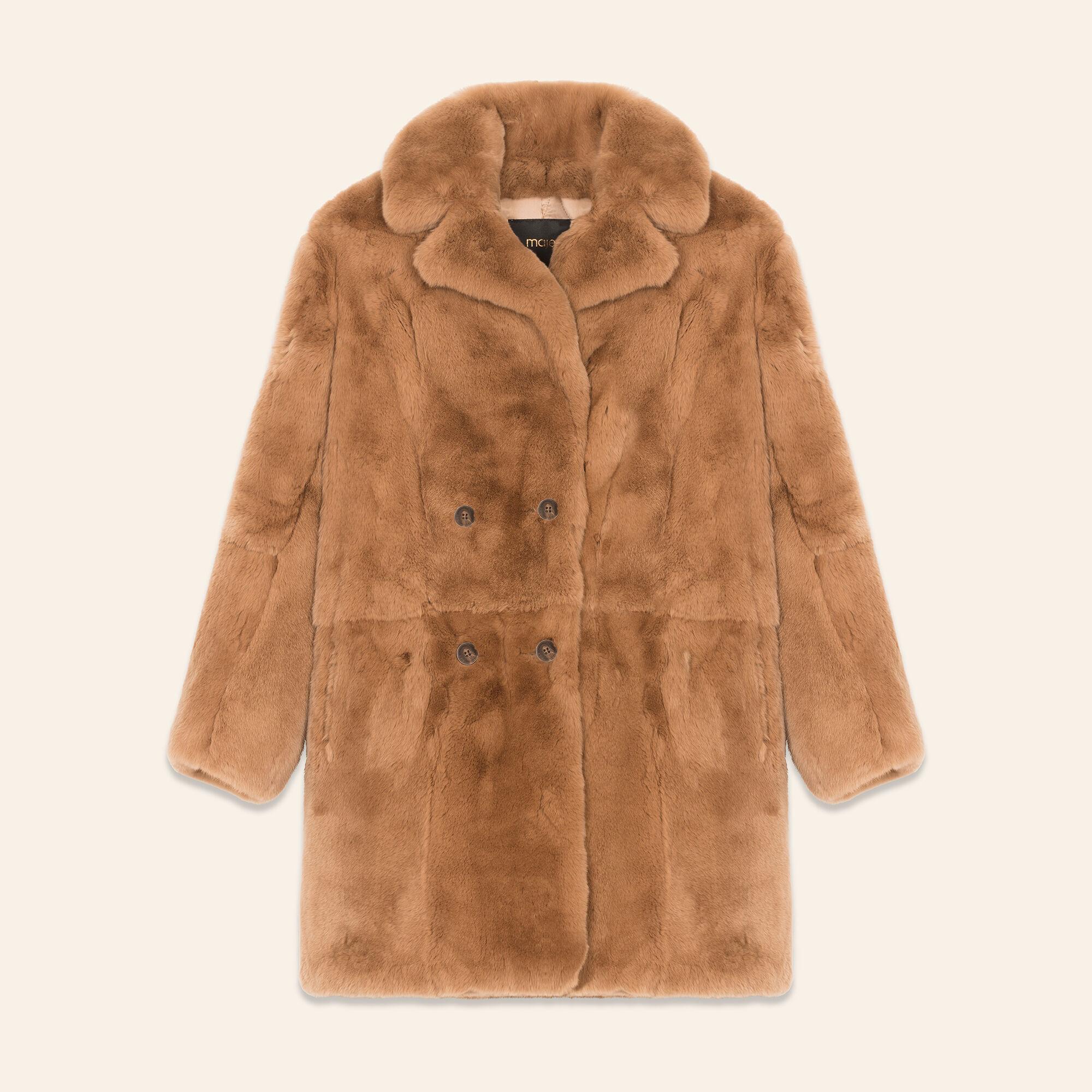 manteau en lapin maje