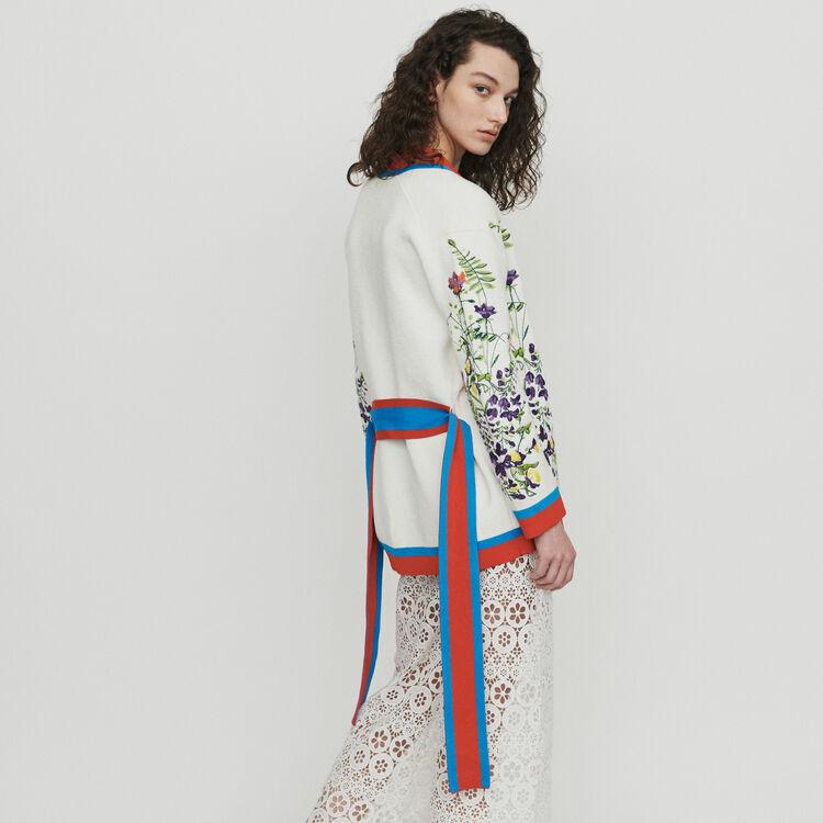 Cardigan brodé de fleurs : Pulls & Cardigans couleur MULTICO