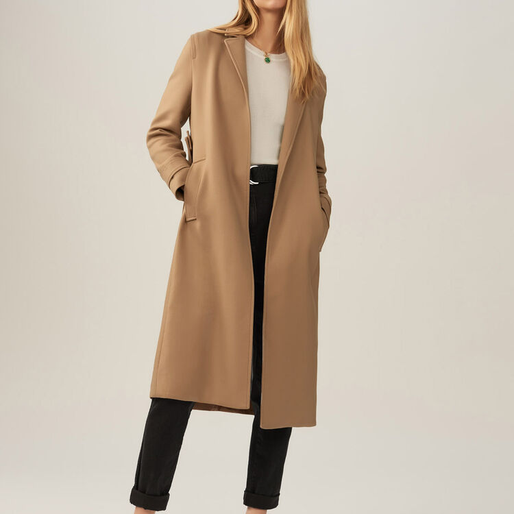 Trench avec ceinture amovible - Pre-Collection - MAJE
