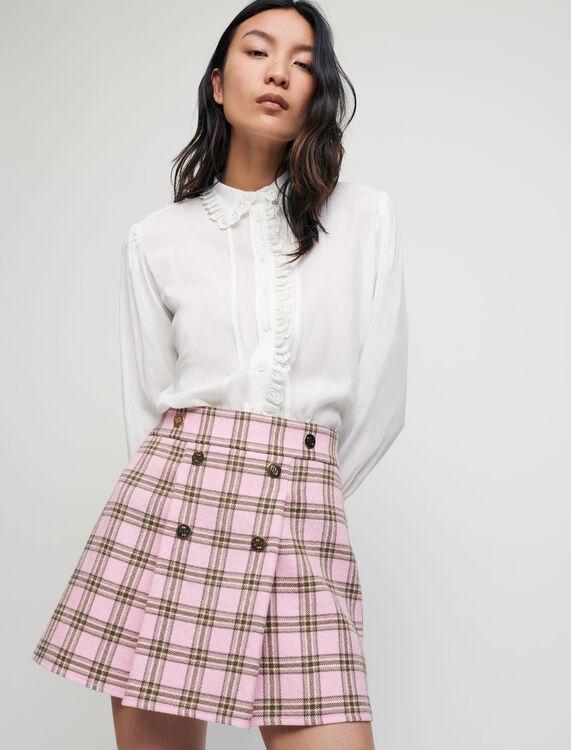 Jupe à plis à carreaux - Jupes & Shorts - MAJE