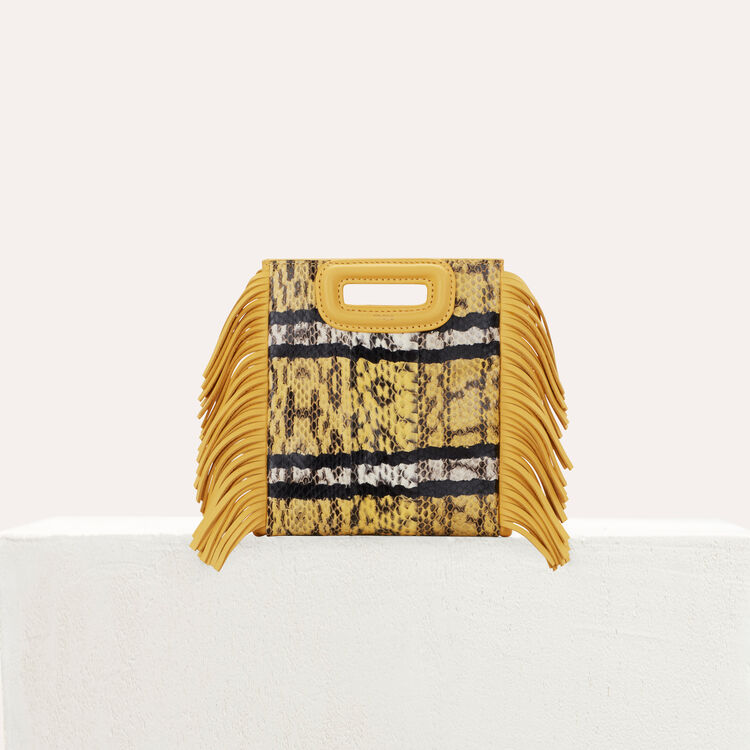 Sac M Mini en serpent d'eau : New in : Collection Été couleur Jaune