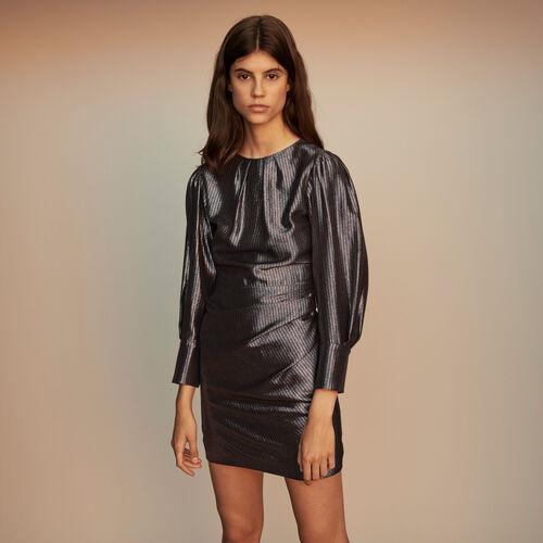 Robe drapée en Lurex : Collection hiver couleur Argent