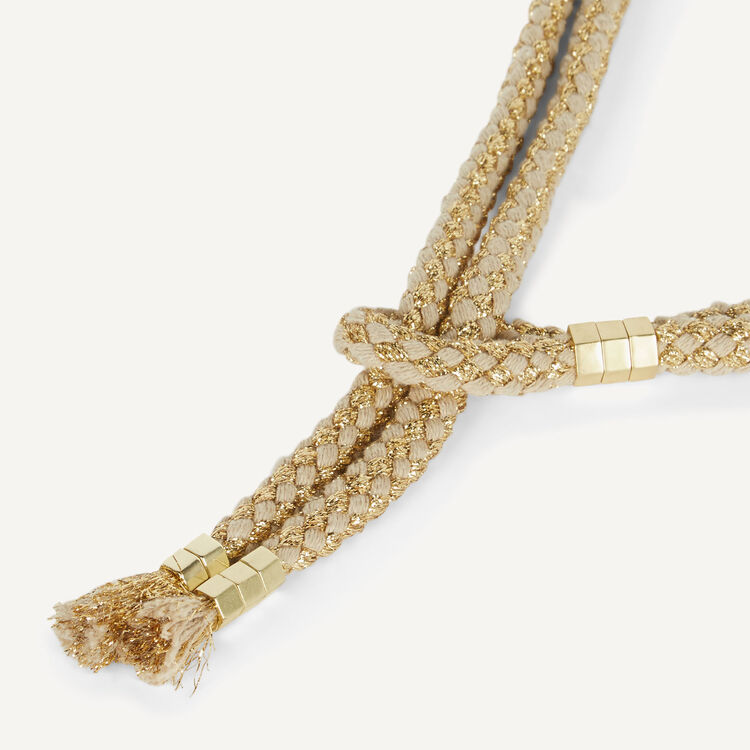 Ceinture en corde avec écrous dorés : Mechandising pages couleur GOLD