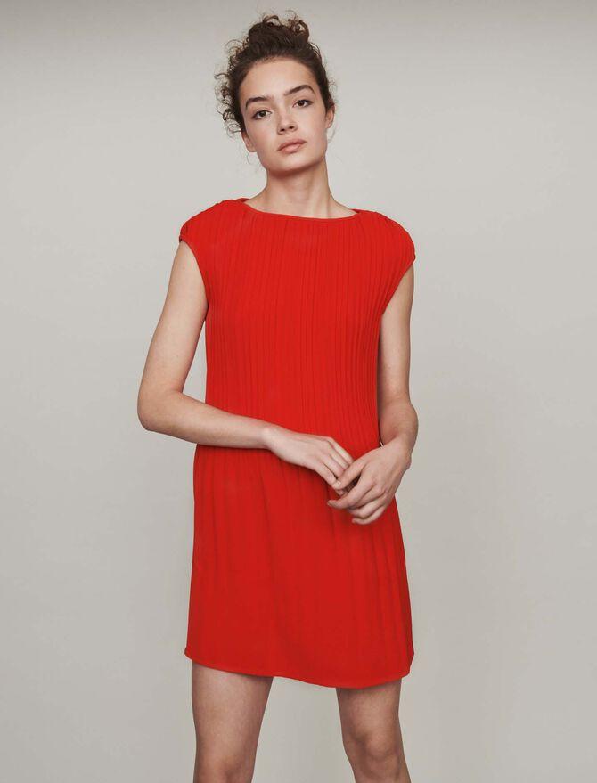Robe plissée sans manches - Midseason-Sales_IE_Bestsellers - MAJE