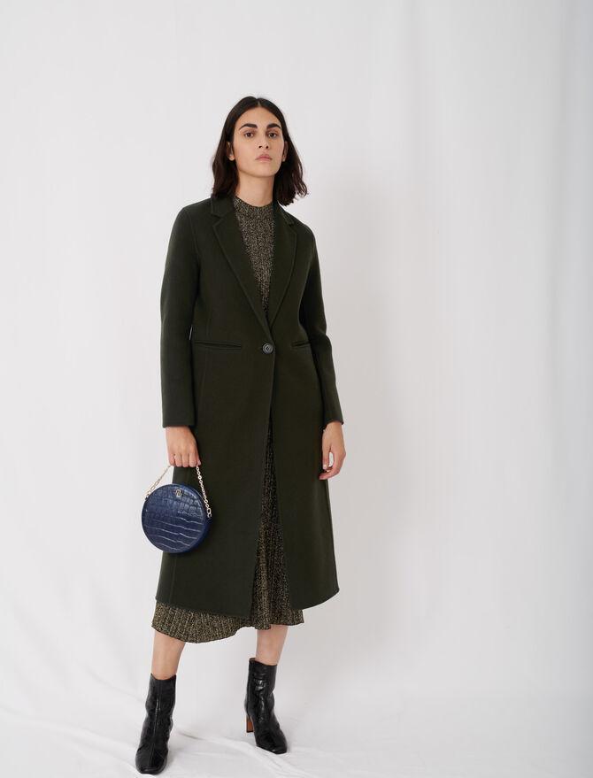 Manteau long en double face - null - MAJE