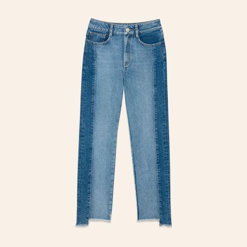 Jean droit en denim délavé - Jeans - MAJE