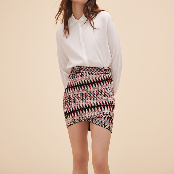 Jupe courte en jacquard : Jupes & Shorts couleur Jacquard
