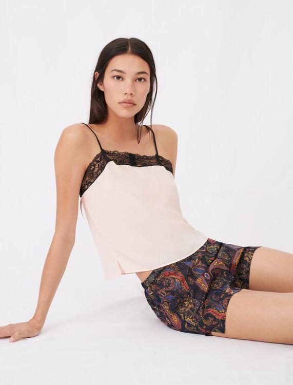Kit pyjama imprimé à dentelles - Homewear - MAJE