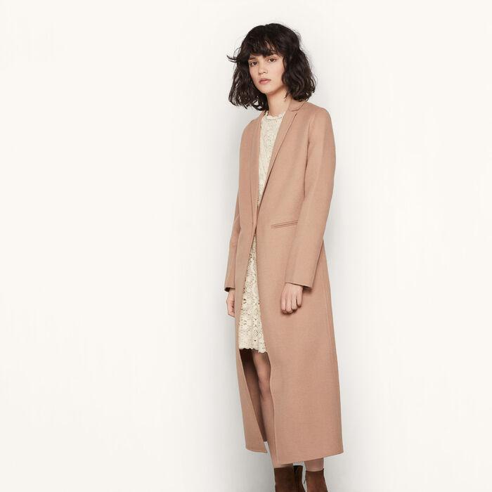 Manteau long en laine double face - Manteaux & Blousons - MAJE