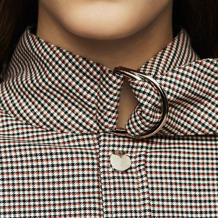 Surchemise à imprimé pied-de-coq : Vestes couleur CARREAUX