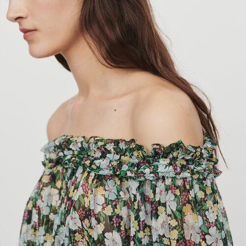 Top smocké à imprimé floral : Tops & Chemises couleur IMPRIME