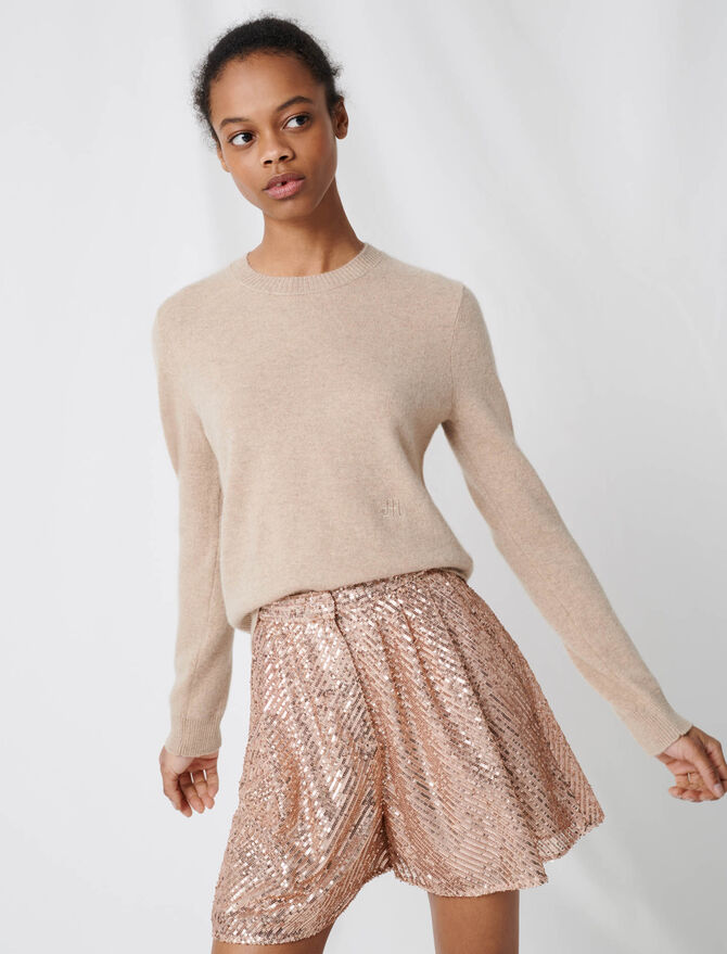 Pull col rond en cachemire -  - MAJE