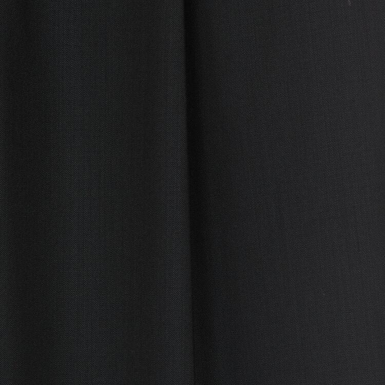 Pantalon à pinces en laine vierge : Pantalons couleur Black