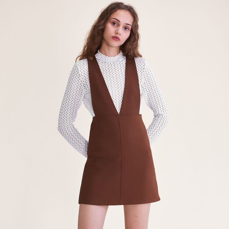 Robe courte à bretelles - Robes - MAJE