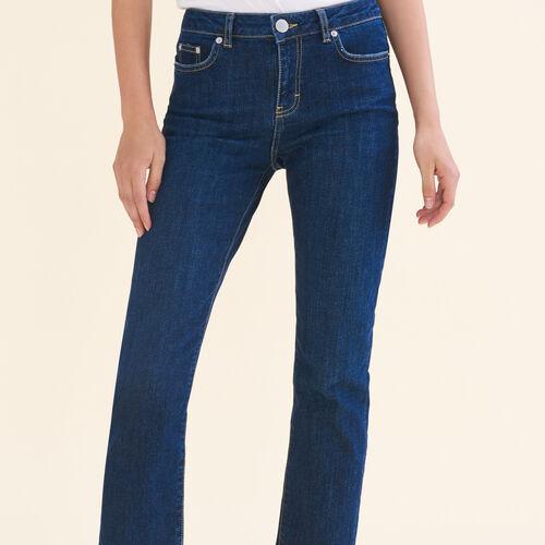 Jean 7/8 en coton stretch - Jeans - MAJE