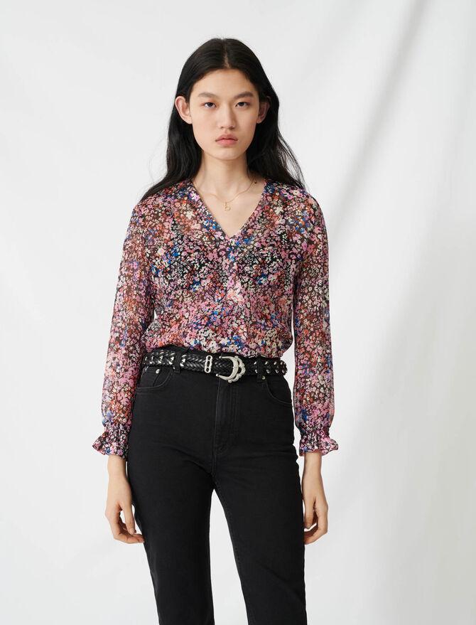 Jean droit taille haute style mom - Pantalons & Jeans - MAJE