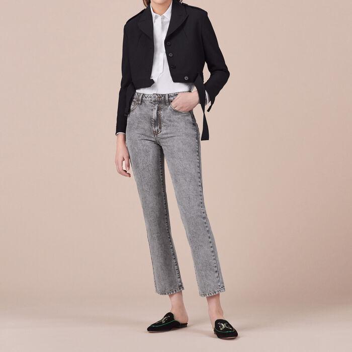 Veste courte avec détail au dos : Vestes & Blousons couleur Marine